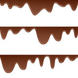 background illustration of flowing chocolate drops