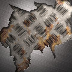 abstract metal plate background with rust