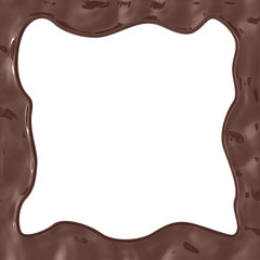 chocolate frame background