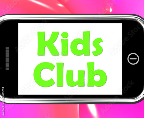 Kids  Club On Phone Means Children's Activities