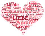 Word Cloud Liebe