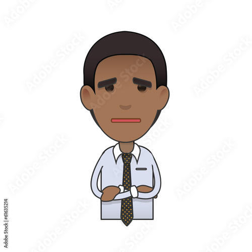 Young businessman over isolated background. Vector design.