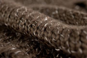 macro della sciarpona di lana