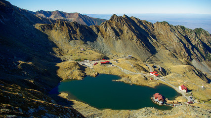 Balea Lake in Romania. Fagaras mountains