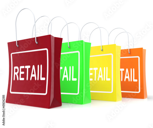 Retail Shopping Bags Shows Buying Selling Merchandise Sales