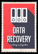 Data Recovery on Red in Flat Design.