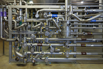 Distribution unit, interior of brewery
