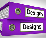 Designs Folders Mean Style Of Product Or Publication