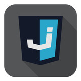 vector illustration of dark blue shield with j letter also ui