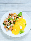 delicious salad with white beans