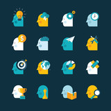 Flat design icons for web and mobile phone services and apps
