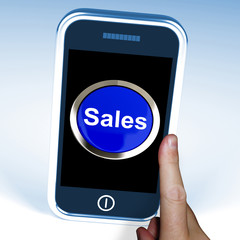 Sales On Phone Shows Promotions And Deals