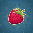 Retro Strawberry Illustration