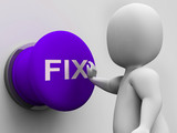 Fix Button Shows Repairing Faults And Maintenance