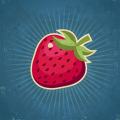 Retro Strawberry Illustration