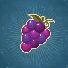 Retro Grape Illustration