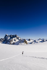 Hiking on Vallee Blanche