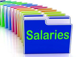 Salaries Folders Show Paying Employees And Remuneration