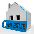 Real Estate House Means Homes Or Buildings On Property Market