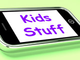 Kids Stuff On Phone Means Online Activities For Children