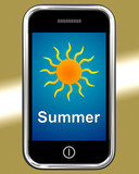 Summer On Phone Means Summertime Season