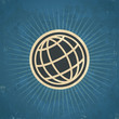Retro globe Illustration