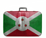 Vintage travel bag with flag of Burundi