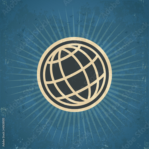 Retro globe Illustration