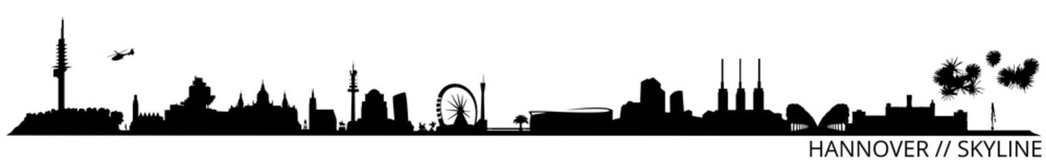 Hannover Skyline // Silhouette