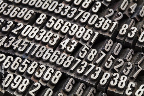 random numbers in metal type