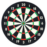 Darts board isolated on white background. Classic dartboard