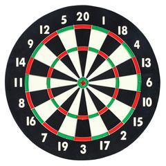 Darts board isolated on white background. Classic dartboard