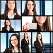 Businesswoman collage