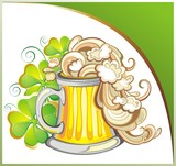 Happy St Patricks Day Card With Beer