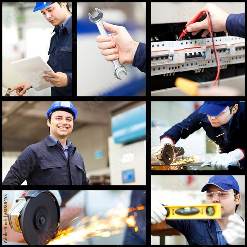 Worker collage