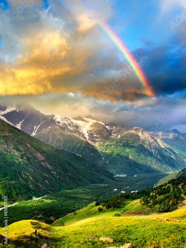 High mountain during sunset. Beautiful natural landscape © Biletskiy Evgeniy