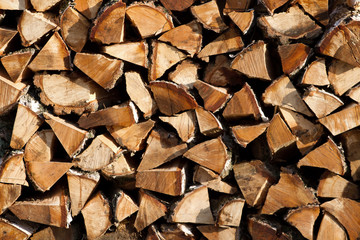 Firewood texture background