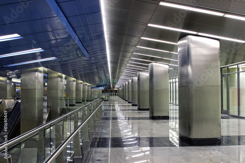"Interior Moscow metro station ""Business Center"" in Moscow"