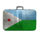 Vintage travel bag with flag of Dijbouti
