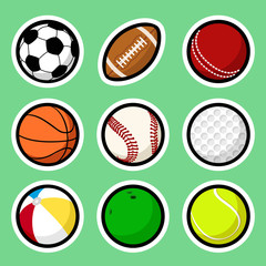 Ball stickers