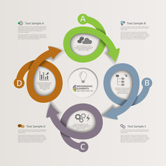 Looping Arrows Infographics