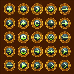 Steam punk arrow buttons
