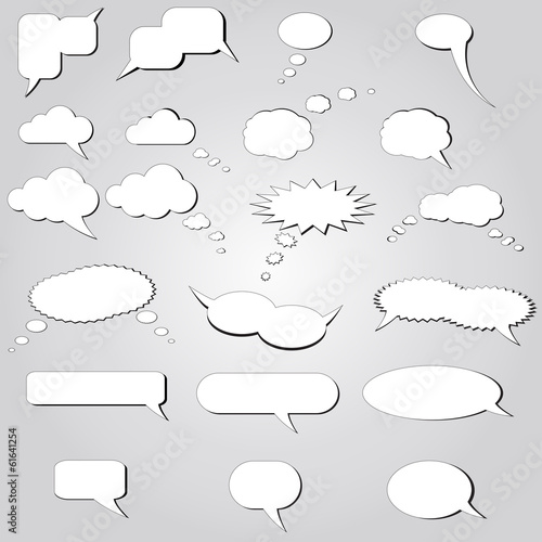 White vector speech bubbles