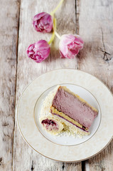 cheesecake blackcurrant