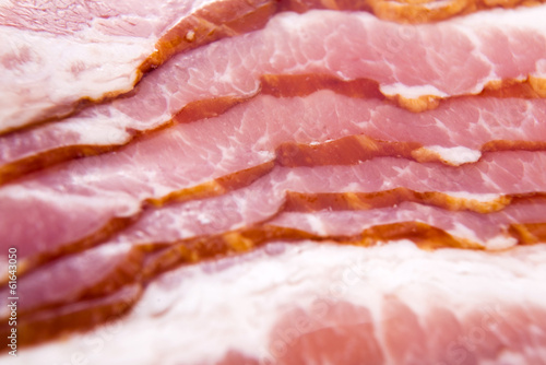 Raw dry-cured back bacon