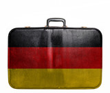 Vintage travel bag with flag of Germany
