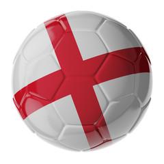 Soccer ball. Flag of England