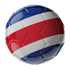 Soccer ball. Flag of Costa Rica