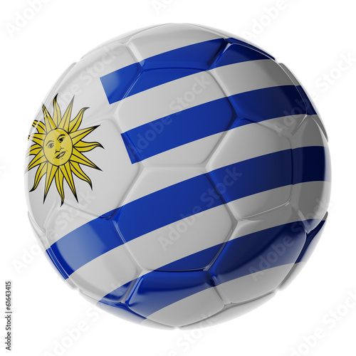 Soccer ball. Flag of Uruguay