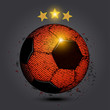 gold star red soccer ball